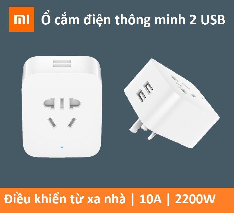 Ổ cắm điện thông minh 2 cổng USB Xiaomi nhà thông minh Smart Socket