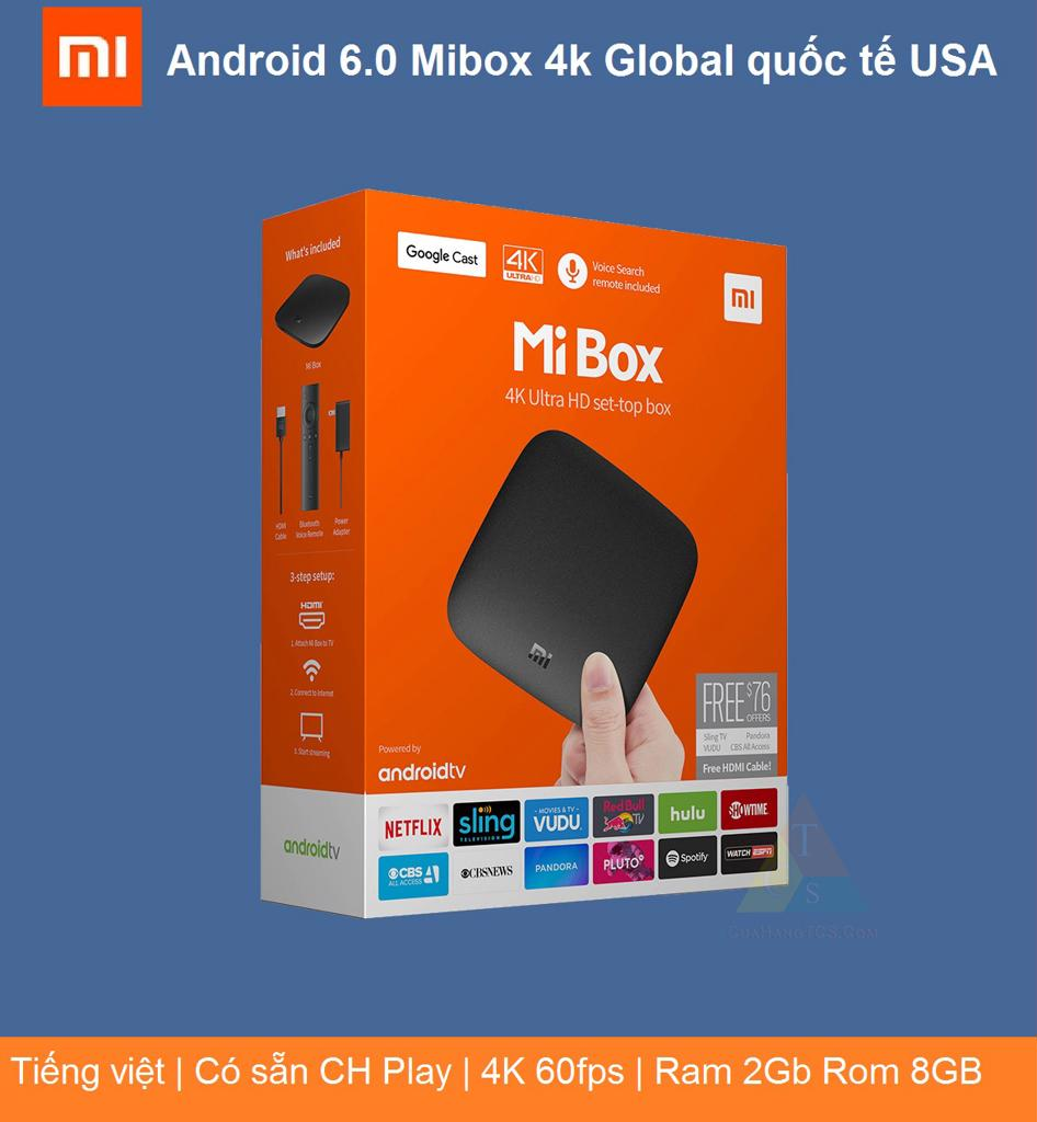 ANDROID 6.0 MIBOX 4K GLOBAL QUỐC TẾ
