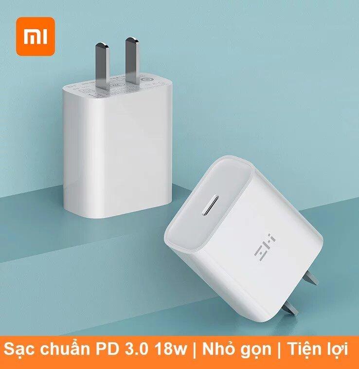 Củ sạc nhanh Xiaomi Zmi chuẩn PD Type C HA711 18W