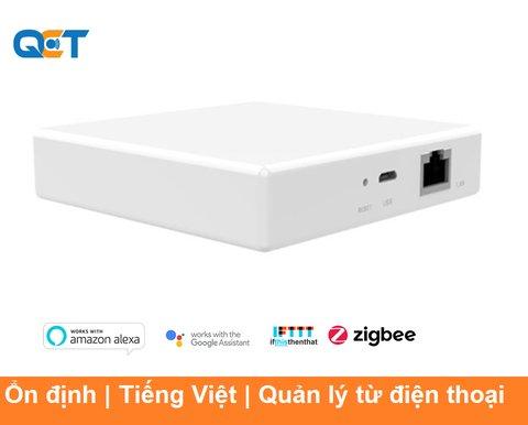 Bộ trung tâm Gateway Zigbee QCT nhà thông minh