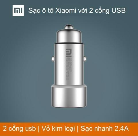 SẠC Ô TÔ XIAOMI VỚI 2 CỔNG USB | (Tạm hết hàng)