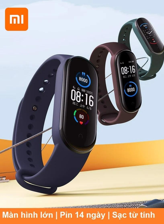 Vòng tay thông minh Miband5 Xiaomi