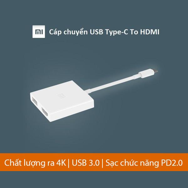 CÁP CHUYỂN USB TYPE-C TO HDMI XIAOMI (Tạm hết hàng)