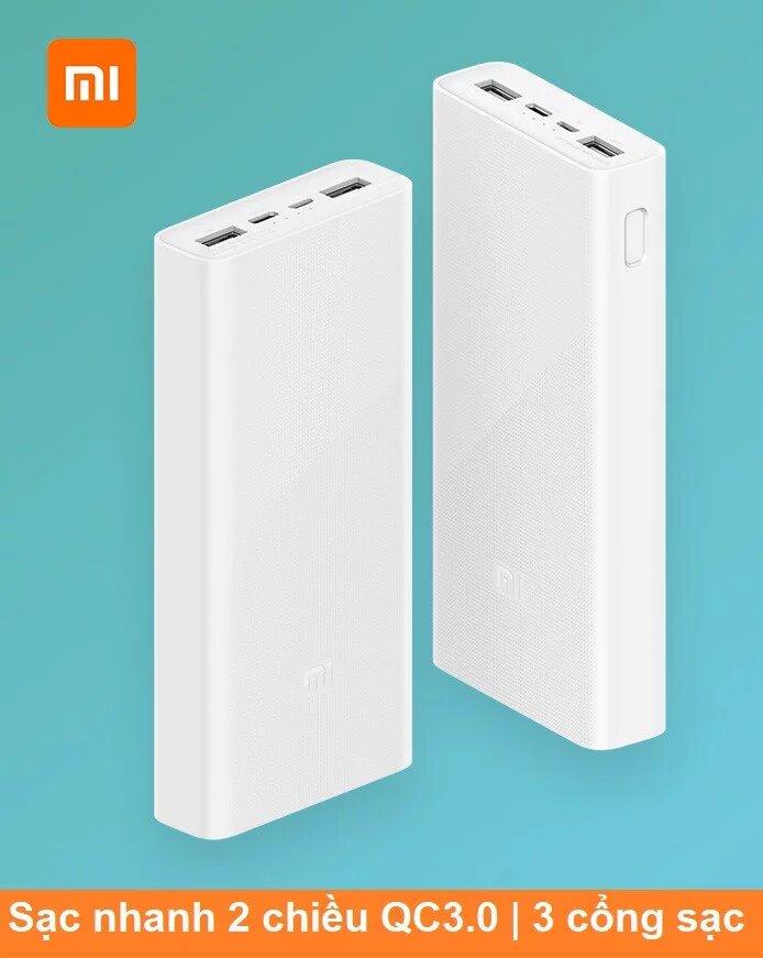 Kết quả hình ảnh cho Pin sạc dự phòng 20000mAh Xiaomi gen 3 18W